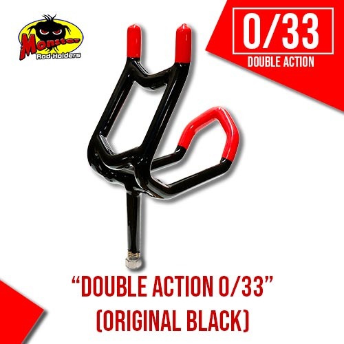 Double Action 0/33 Rod Holder – Black & Red