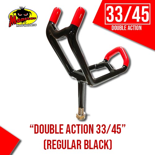 Double Action 33/45 Rod Holder – Black & Red