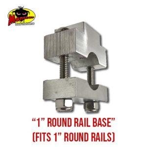 "New 2019 1"" Round Rail Base for 1"" Boat Rails"