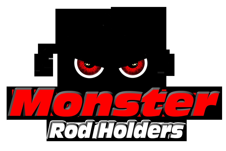 monster rod holder window decal 2020